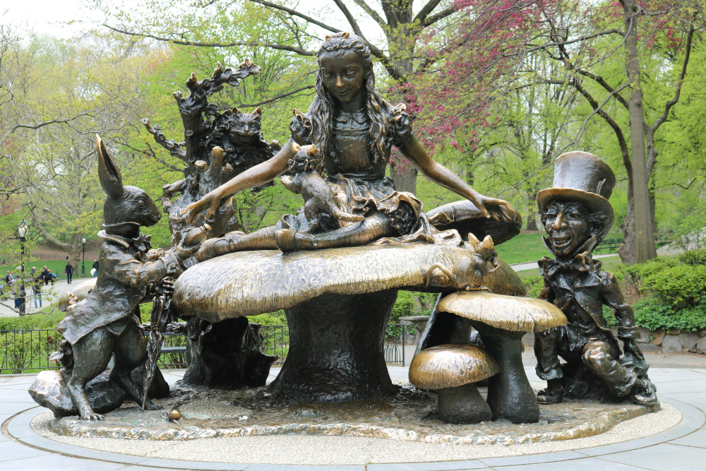 Alice In Wonderland Statue Central Park Nyc Usa From All